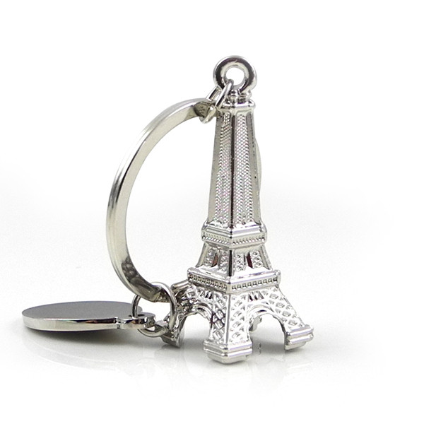 MENGS® Silver Shape of Eiffel Tower Logo KeyRing Key Chain Best Gifts