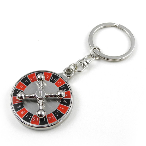 MENGS® Classic Russian Roulette Rotate Keychain Keyring Key Ring KeyFob Lucky Day