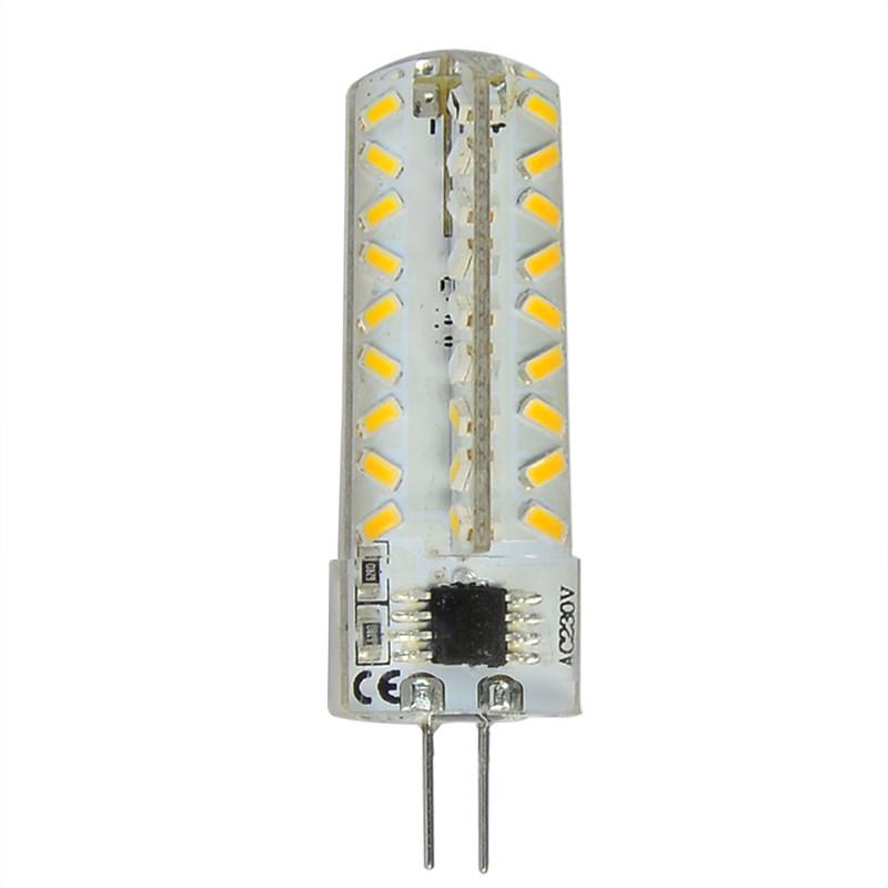 MENGS® G4 4W LED Dimmable Corn Light 72x 3014 SMD LEDs LED Lamp Bulb in Warm White Energy-Saving Light