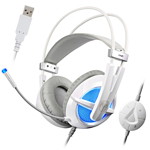 SOMIC® G938 7.1CH Sound Effect Headband Gaming Headset USB Plug Wired Game Headphone with Microphone for PC Laptop Notebook
