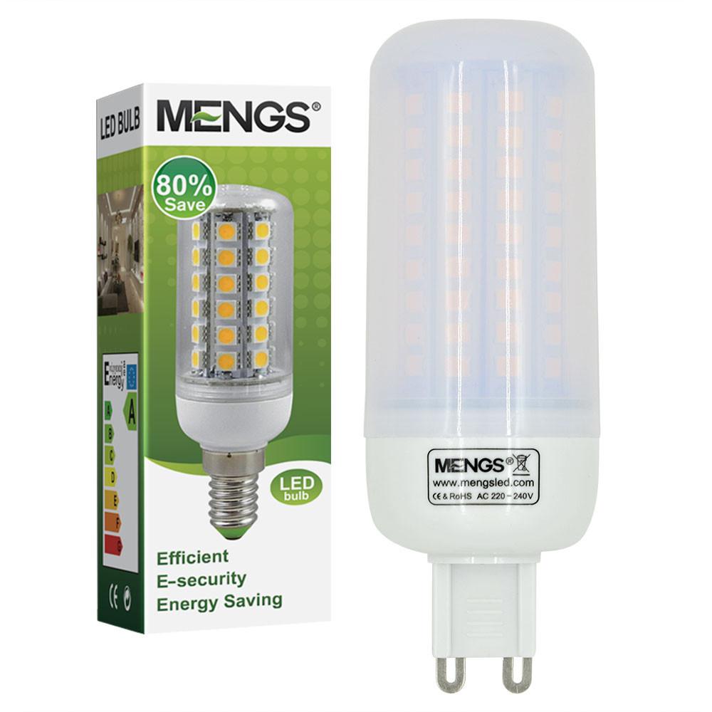 MENGS® G9 7W LED Corn Light 102x 2835 SMD LED Lamp Bulb in Cool White Energy-Saving Light