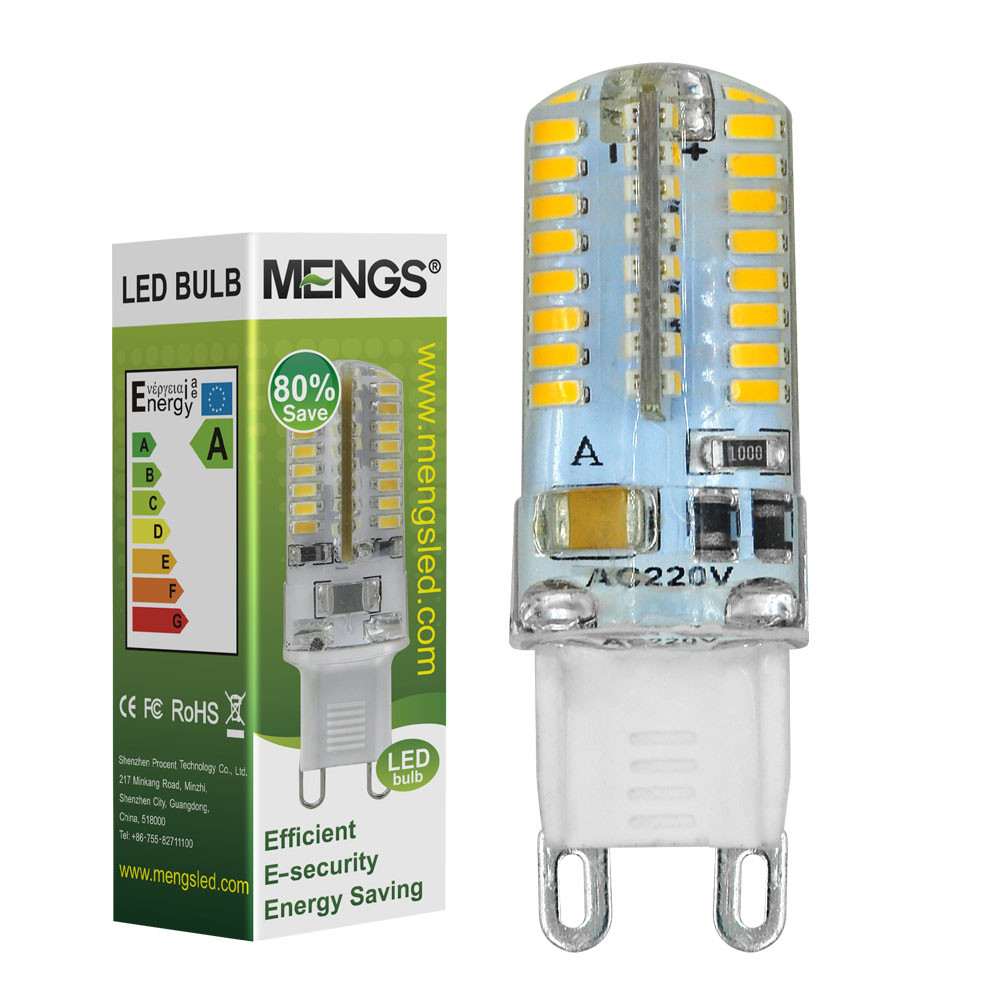 MENGS® G9 3W LED Corn Light 64x 3014 SMD LEDs LED Bulb In Cool White Energy-Saving Lamp