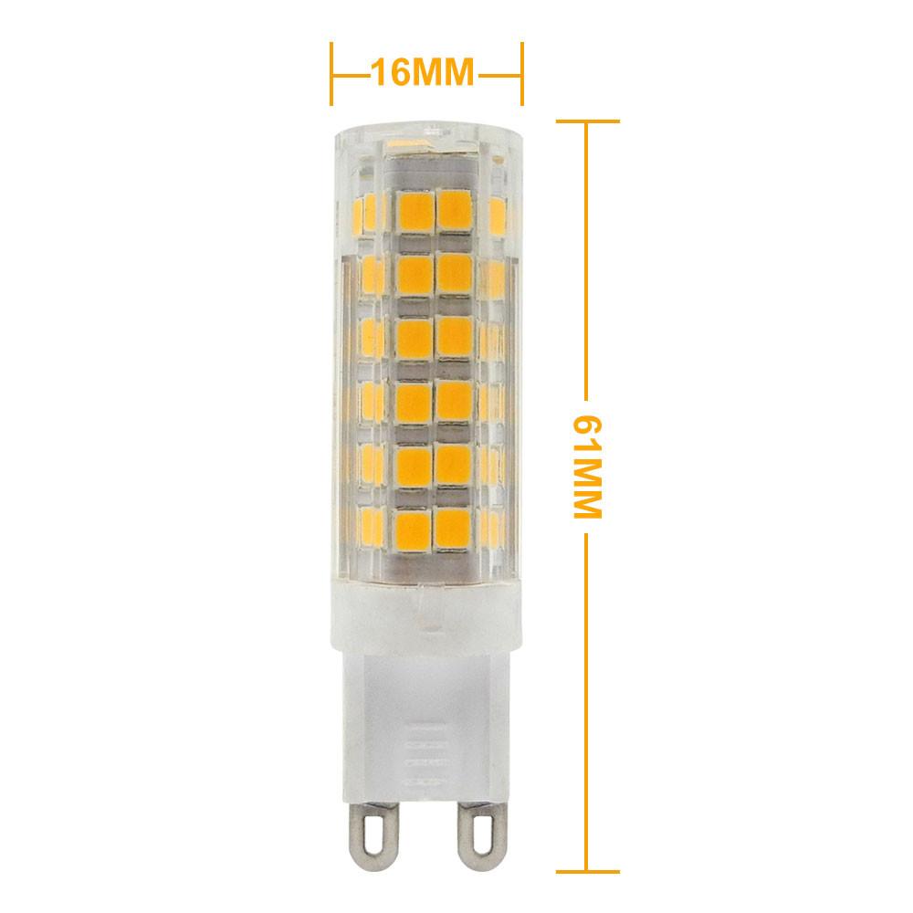 g9 7w led light 75x 2835 smd leds led lamp in warm white. Black Bedroom Furniture Sets. Home Design Ideas