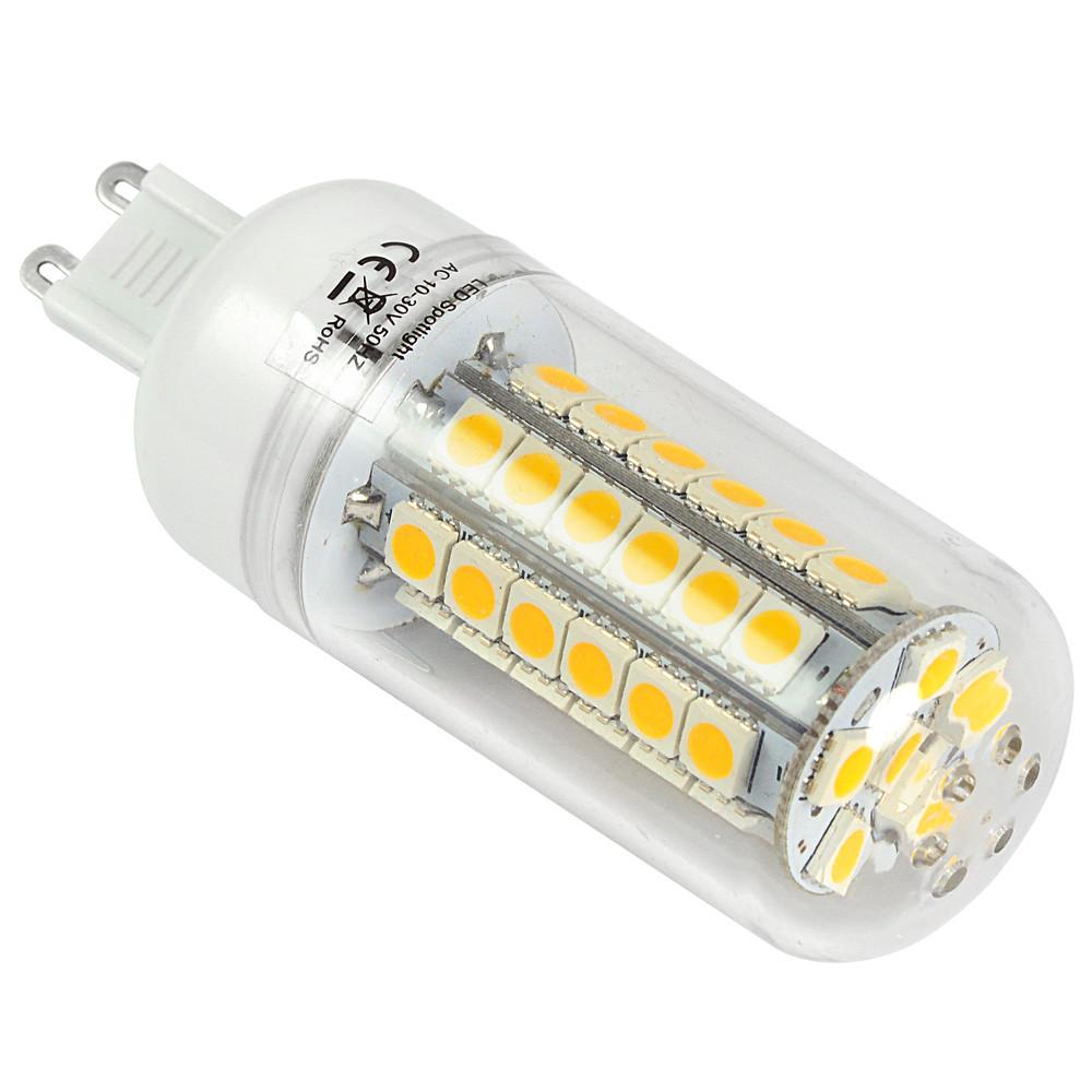 g9 8w led corn light 48 x 5050 smd leds led lamp bulb ac10 30v in warm white energy saving lamp. Black Bedroom Furniture Sets. Home Design Ideas