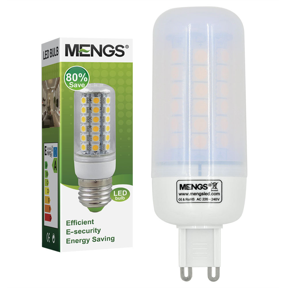MENGS® G9 7W LED Corn Light 48x 5050 SMD LED Lamp Bulb in Cool White Energy-Saving Light