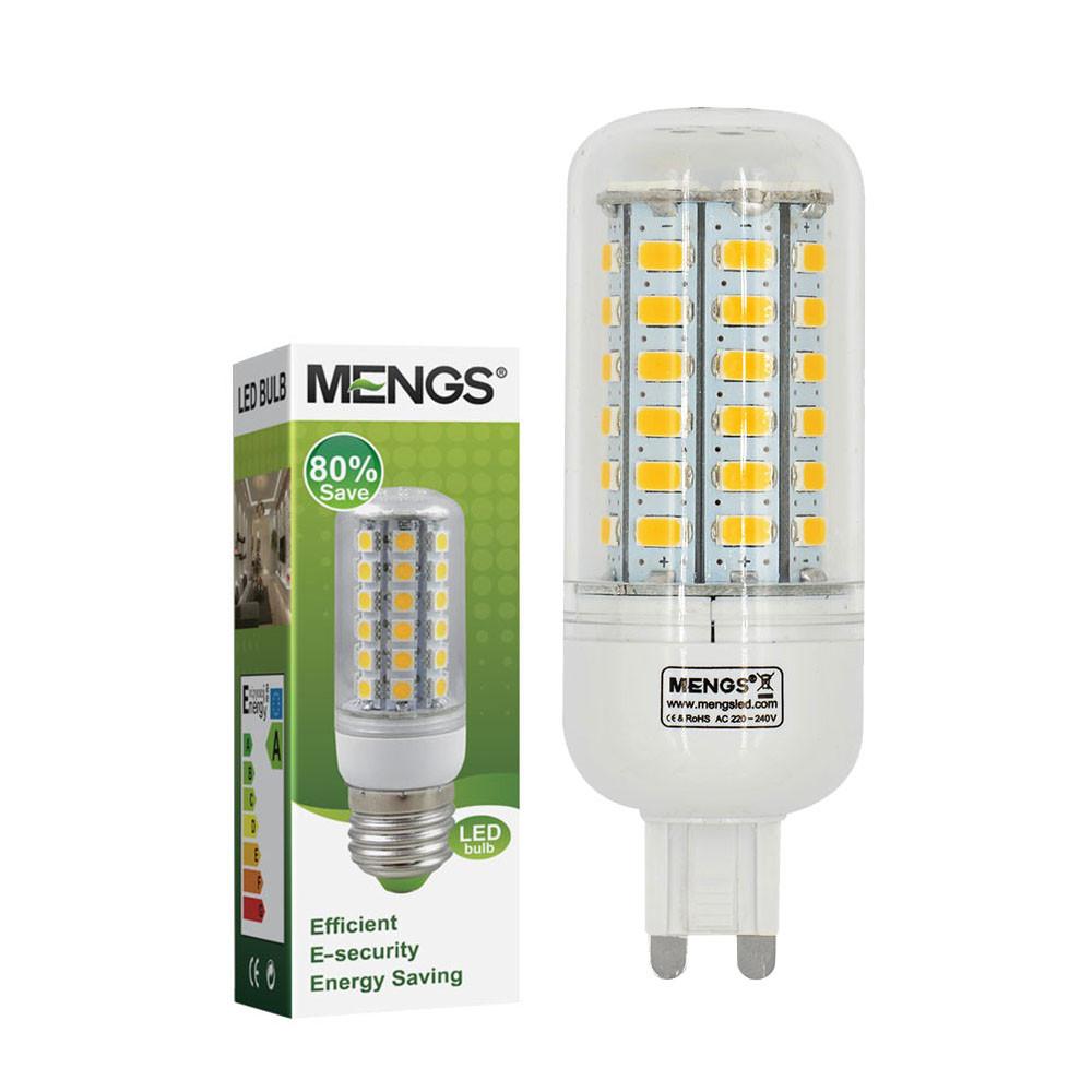 MENGS® G9 7W LED Corn Light 56x 5730 SMD LEDs LED Bulb Lamp In Cool White Energy-Saving Lamp