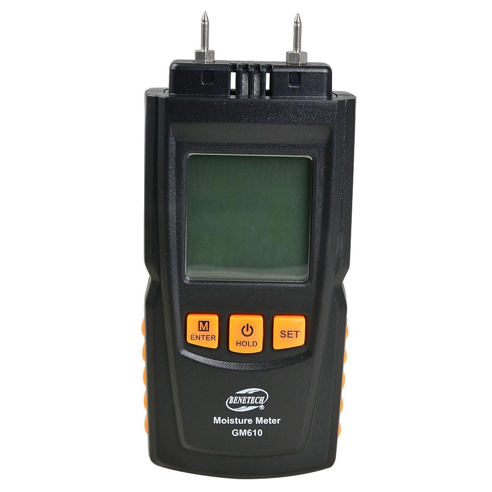 MENGS® GM610 Digital Wood Moisture Meter With LCD Display Measurement Range 2~40% / 50% / 60% / 70%