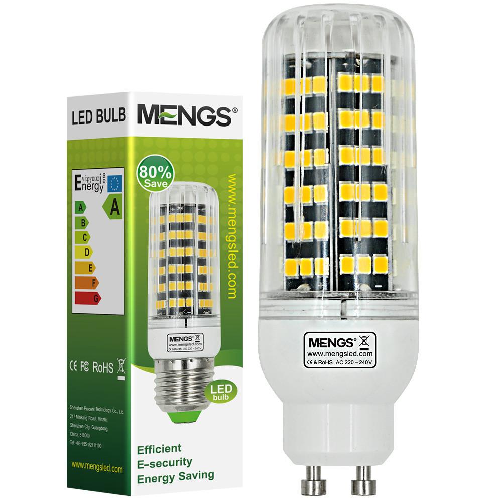 MENGS® GU10 12W LED Corn Light 123x 2835 SMD LED Lamp In Cool White Energy-Saving Light