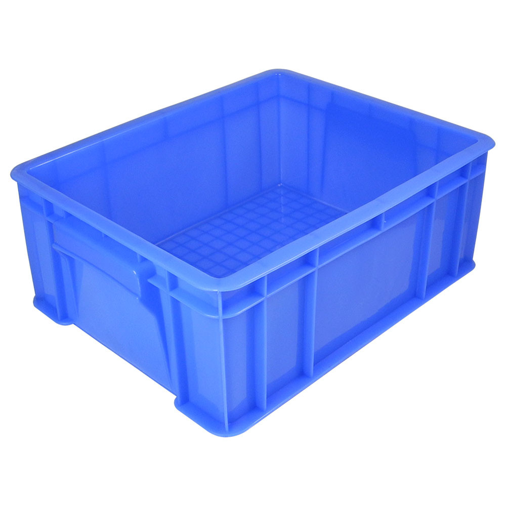 MENGS® 3# Blue Plastic Storage Container With PE 345 x 265 x 125mm 8.6L For Industrial Businesses Schools and Domestic