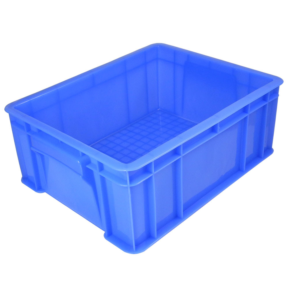 MENGS® 4# Blue Plastic Storage Container With PE 405 x 300 x 145mm 14L For Industrial Businesses Schools and Domestic
