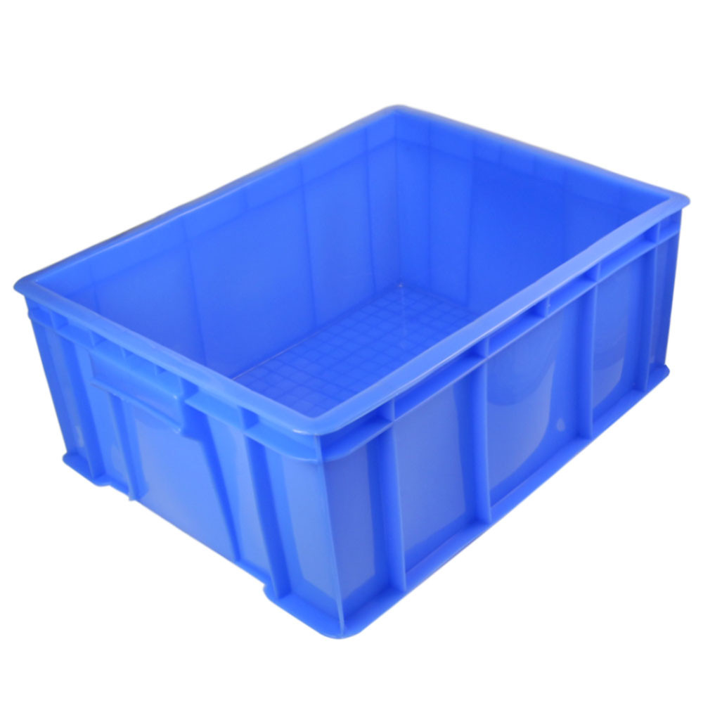 MENGS® 5# Blue Plastic Storage Container With PE 470 x 350 x 170mm 23L For Industrial Businesses Schools and Domestic