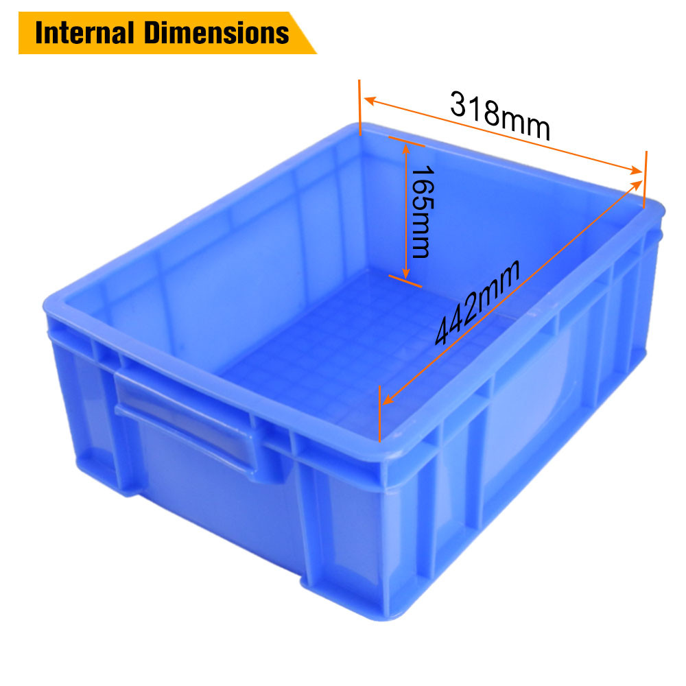 MENGS® 5# Blue Plastic Storage Container With PE 470 X 350 X 170mm 23L For  Industrial Businesses Schools And Domestic   Storage   Home U0026 Garden   LED  Lights ...