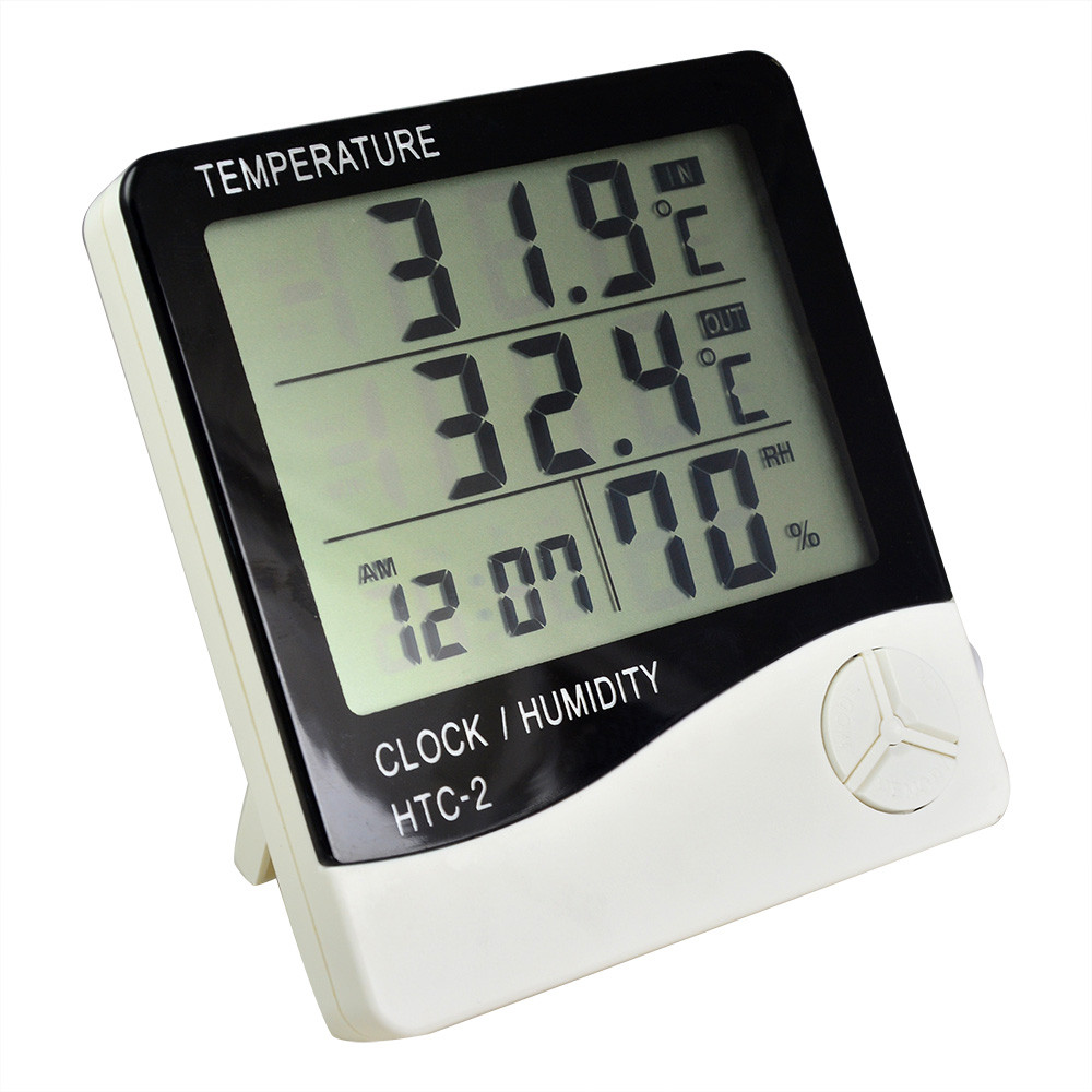 Temperature Humidity Meter : Htc digital lcd temp humidity meter all in one