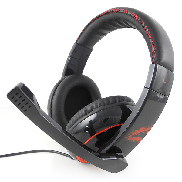 MENGS® GH906 Wired Stereo Gaming Headset w/ volume control for PC Game Console Black