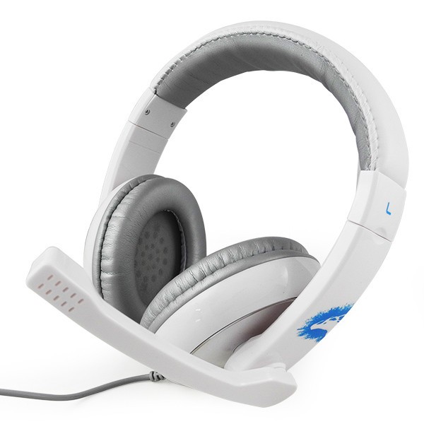 MENGS® GH906 Wired Stereo Gaming Headset w/ volume control for PC Game Console White