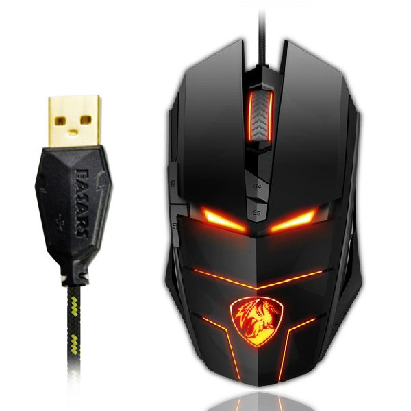 EASARS® 7D Professional Gaming Athletics USB Mouse Optical Mouse with Adjustable LED Light 4000 DPI