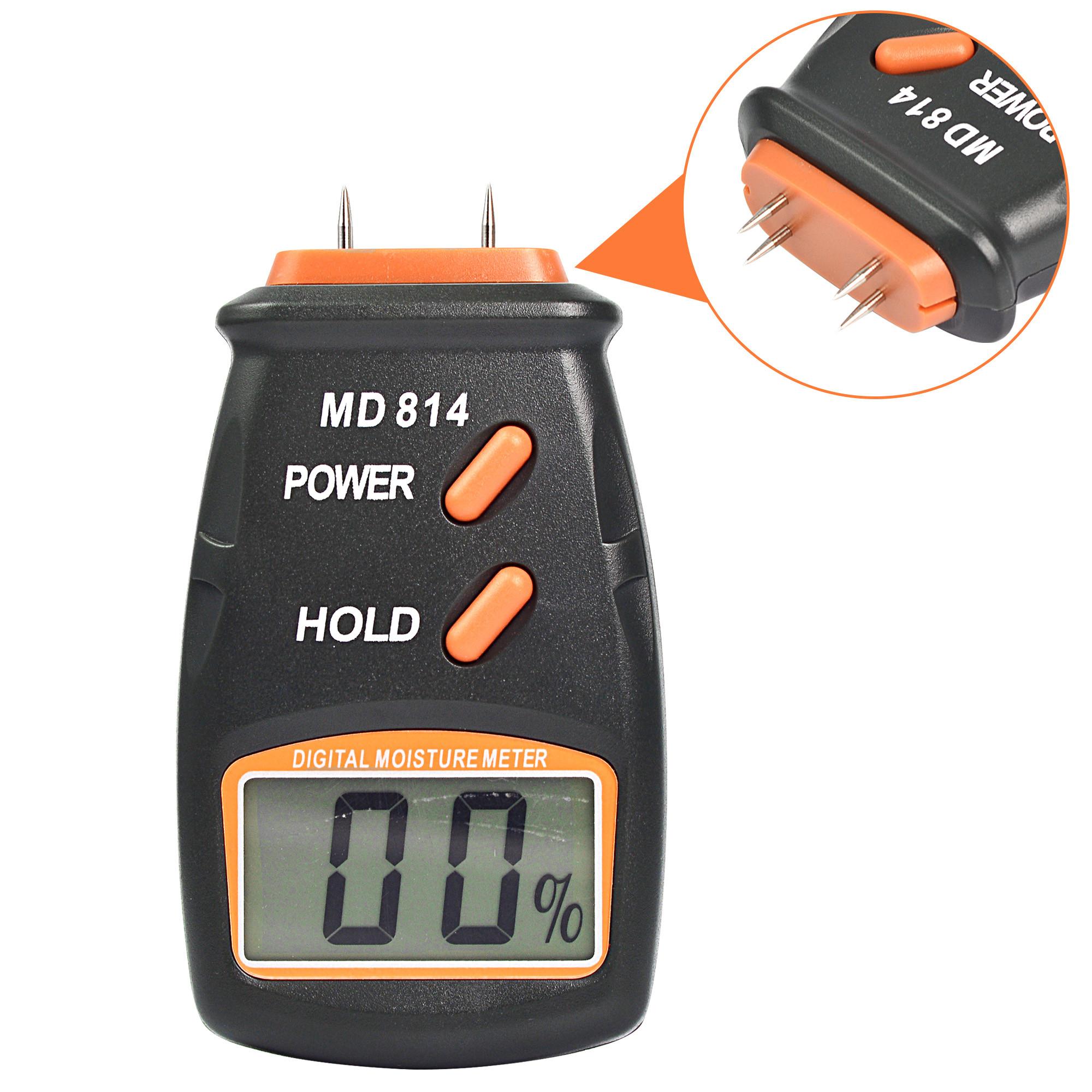 MENGS® 4 Pin Digital Wood Moisture Meter Detector Tester Timber Sensor MD814