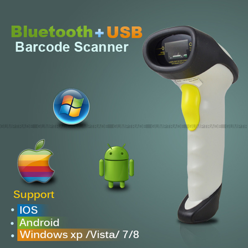 CT10S Bluetooth Laser Barcode Scanner Wireless Handheld