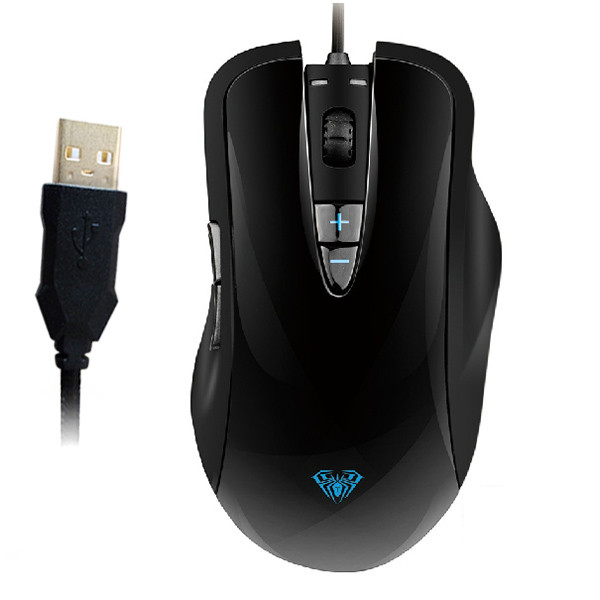 AULA® 7D OGRE SOUL Gaming Athletics Wired Gilded USB Mouse Up to 2000 DPI Resolution with Four- gear Adjustable DPI