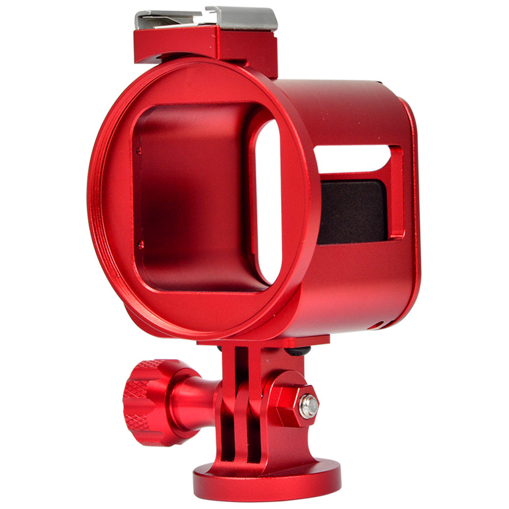 MENGS® Protective Case Frame Housing Shell Mount for GoPro HERO4 Session Camera - Red