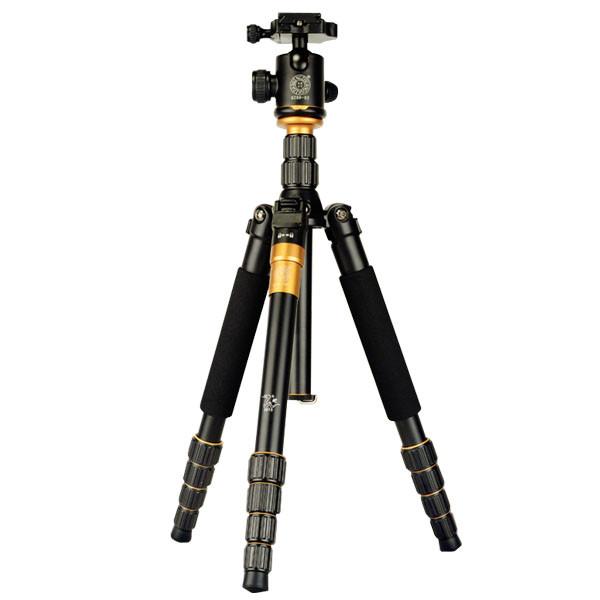 MENGS® Q-666 Portable Tripod Monopod + Ball Head + Travel Bag for Nikon Canon Pentax Sony DSLR Camera