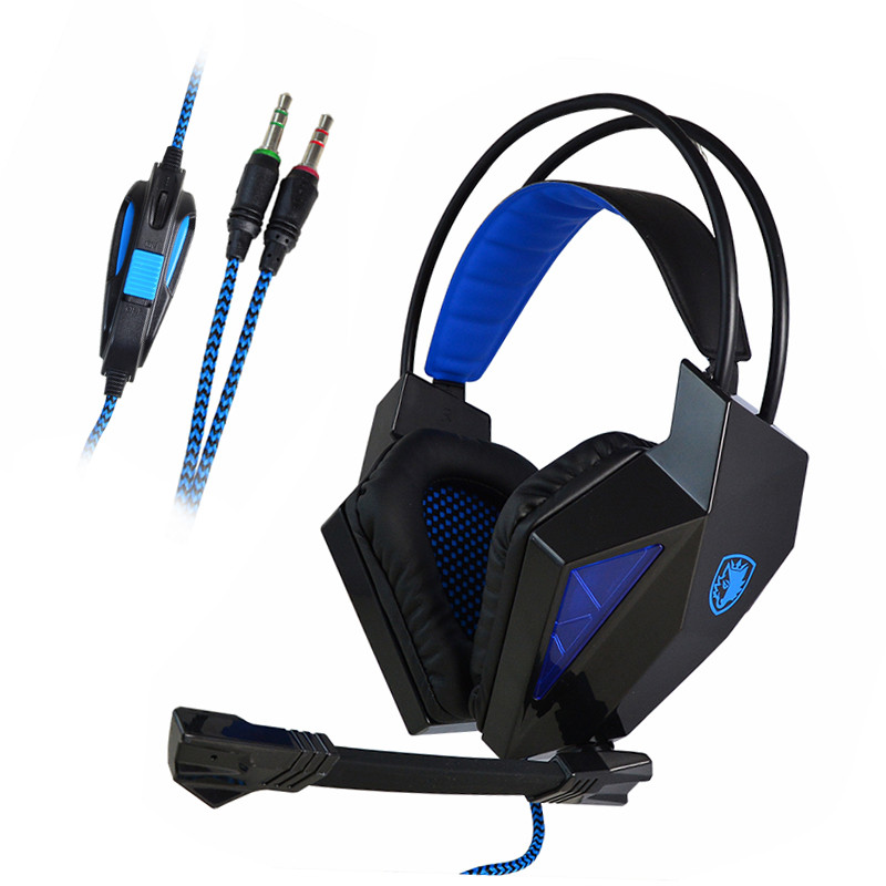 SADES® SA-709 3.5mm Stereo Headband Gaming Headset with Microphone for PC Notebook Laptop - Black