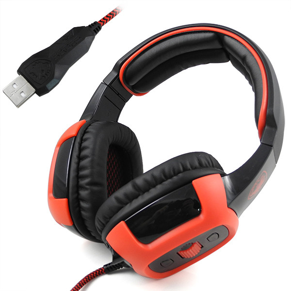 MENGS® SA-906 7.1CH Surround Sound USB Gaming Headset 3D Audio Effects PC Headphone MIC