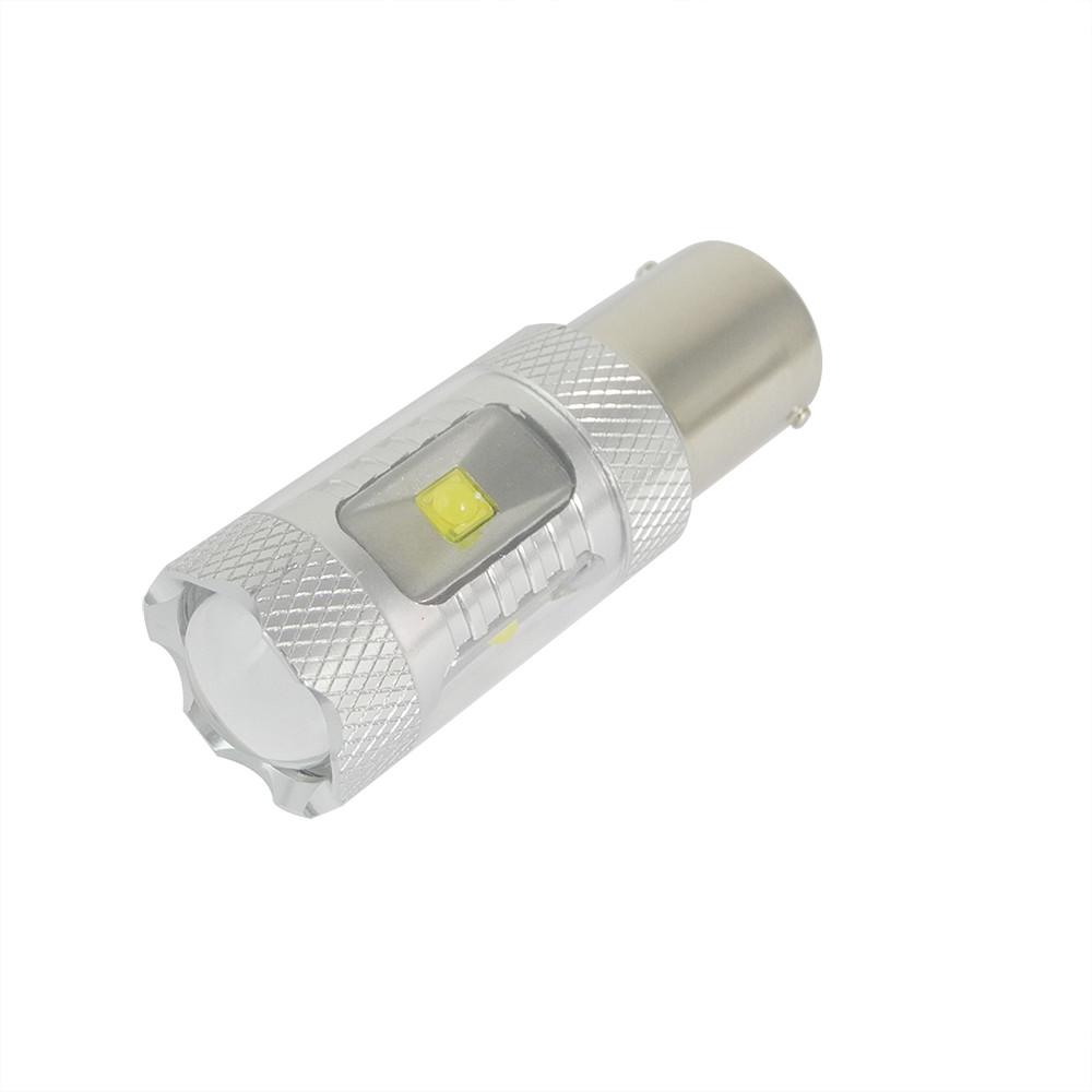 MENGS® 1156 BA15S 8W White LED Car Light With Aluminum Coat for Anti-Fog / Brake / Reading / Door Light DC 9-30V Energy-Saving Lamp