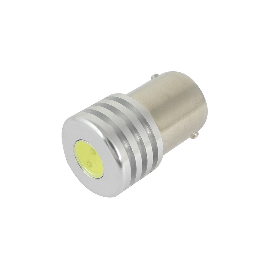 MENGS® 1156 BA15S 1.5W White LED Car Light for Anti-Fog / Brake / Reading / Door Light DC 12V Energy-Saving Lamp