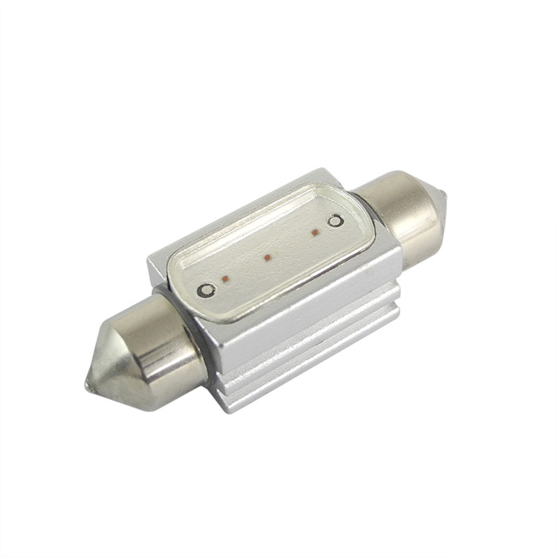 MENGS® SV8.5 1.5W Red LED Car Light for Width Light / Ceiling Light / Reading Light / License Plate Light DC 12V Energy-Saving Light - 36mm