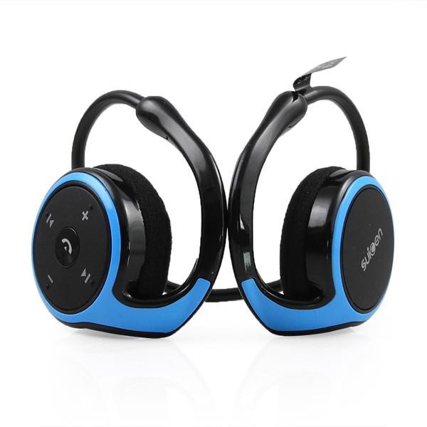 MENGS® Wireless Bluetooth Stereo Headset Headphones A2DP Handsfree Black & Blue