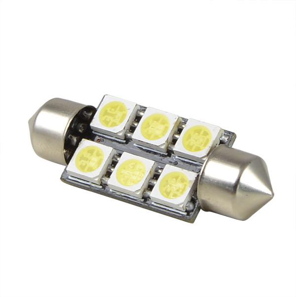 SV8.5 1.8W 39mm LED Car Light 6x 5050 SMD LED Lamp LED Width Light ...
