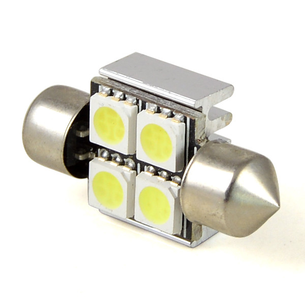 MENGS® SV8.5 2W 31mm LED Car Light 4x 5050 SMD LEDs LED Lamp LED Turning Light / Reading Light DC 12V in Cool White Energy-Saving Light