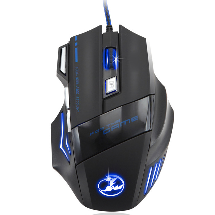MENGS® T-80 3200 DPI Gaming Athletics Wired USB Mouse With 7 Color Breathing Lights Support Windows IOS Mac System