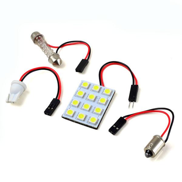 MENGS® T10 SV8.5 BA9S 2W LED Car Light 12x 5050 SMD LED Lamp LED Width Light / Ceiling Light / Reading Light DC 12V in Warm White Energy-Saving Light