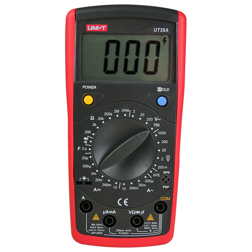 MENGS® UT39A Digital Multimeter With Auto Range, Data Hold, Voltage / Current and Resistance Tester Meter