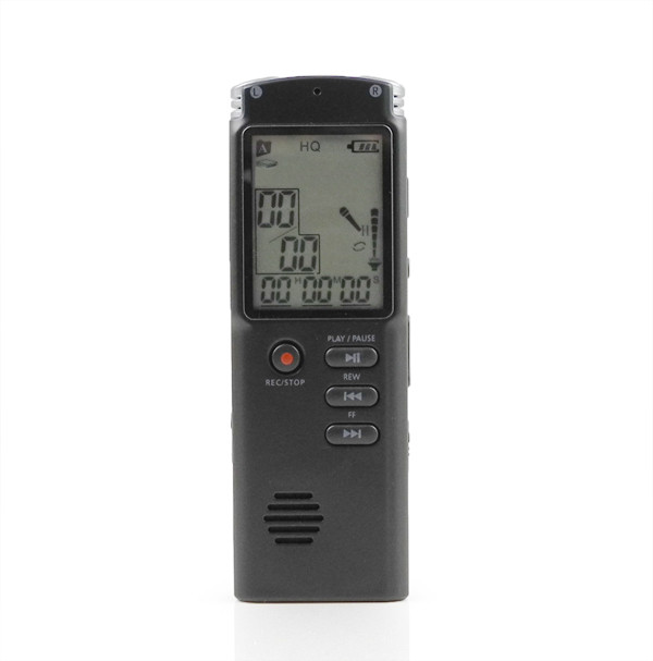 MENGS® 8GB T60 Digital Voice Recorder Dictaphone Audio Recorder Phone Sound Recorder MP3 Player- Black