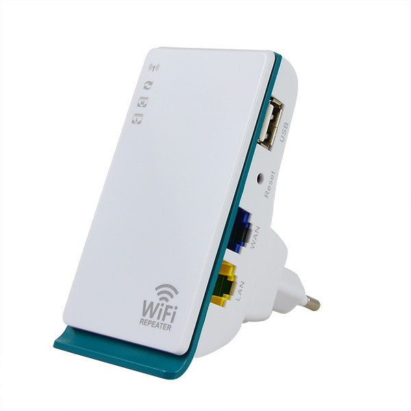 MENGS® 150Mbps Wireless N 802.11 Wifi 2.4G Range Router Repeater Extender Signal Booster with 2 RJ45 port
