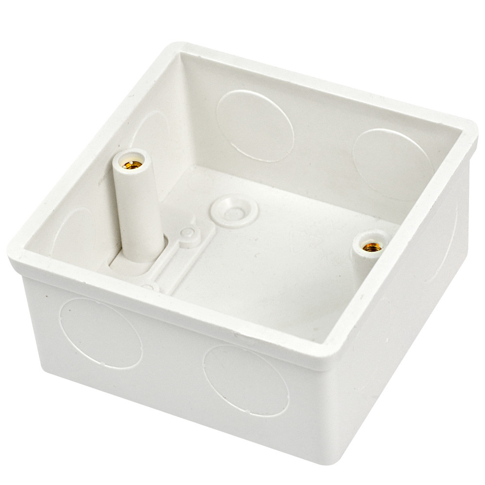 MENGS® Flush pattress wall socket back box made of resistant thermoset material - 77x35mm
