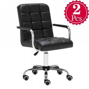 Mengs 2pcs Oc 01 Office Chair With 360 Degree Swivel And Adjule Seat Height