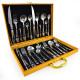 MENGS® 24 Piece Stainless Steel Cutlery Set Tablewear Knife Fork Spoon Teaspoon