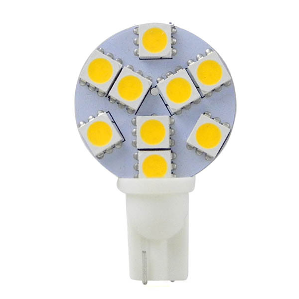 MENGS® T10 2W LED Car Light 9x 5050 SMD LEDs LED Bulb Lamp DC 12V In Warm White Energy-saving Lamp