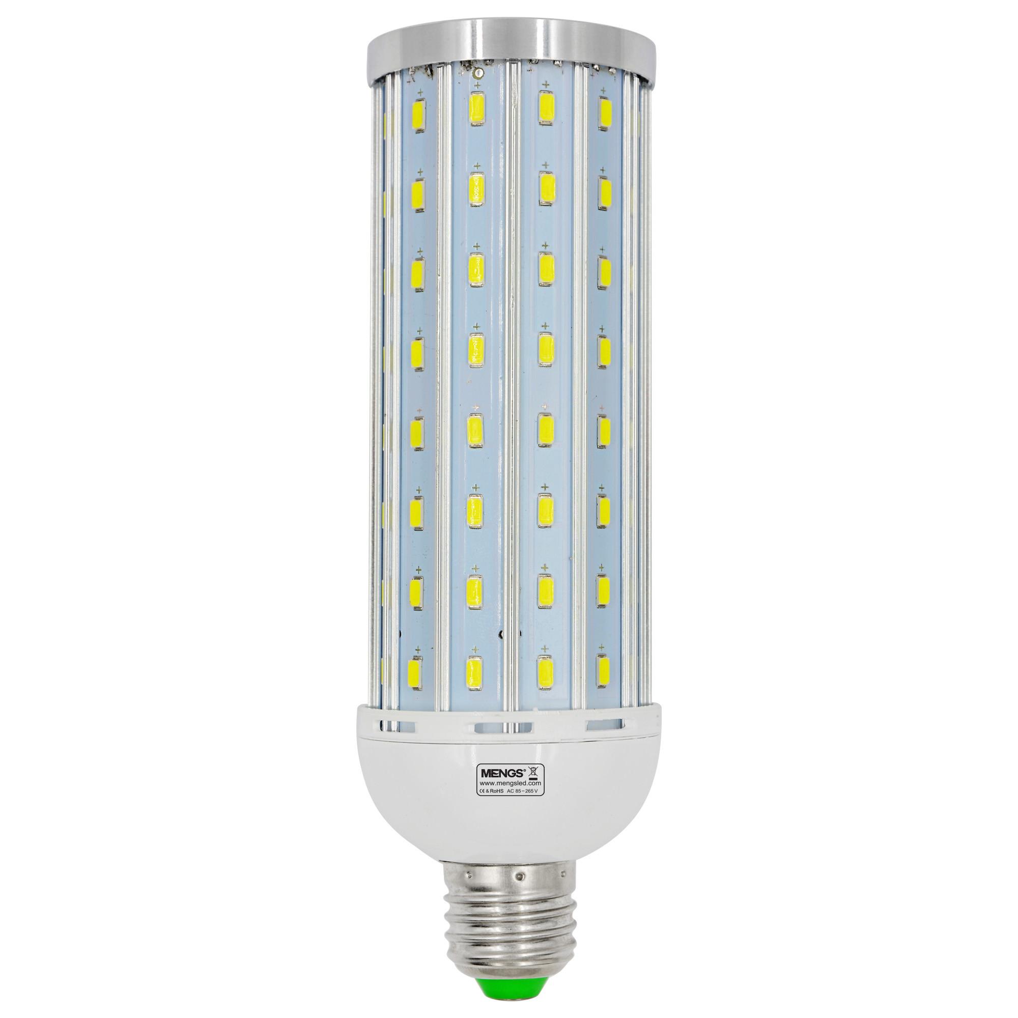 MENGS® Anti-Strobe E27 30W LED Corn Light 112x 5730 SMD LED Bulb Lamp With Aluminum Plate AC 85-265V In Cool White Energy-Saving Lamp