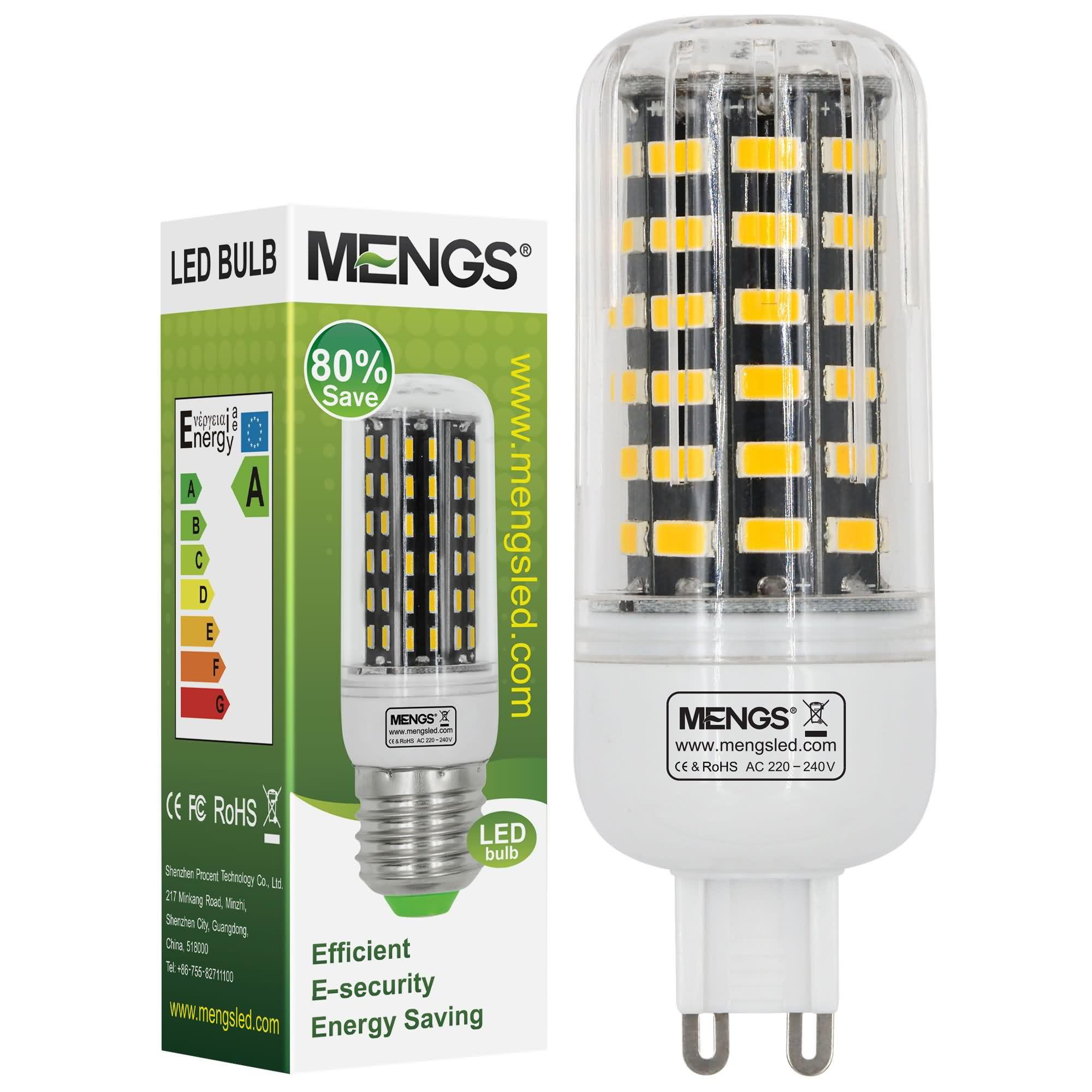 MENGS® G9 9W LED Corn Light 64x 5733 SMD LED Bulb Lamp In Warm White Energy-Saving Light
