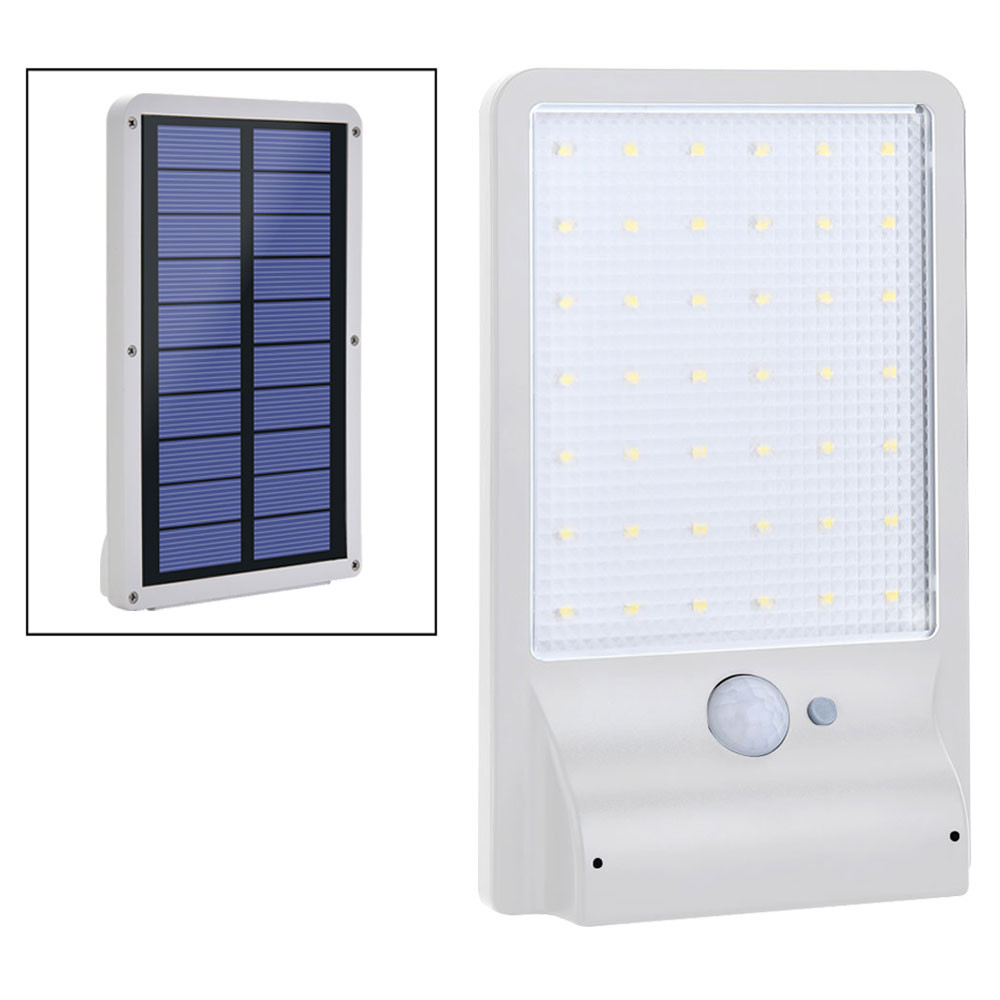 MENGS® SP-1611WC Waterproof 3.5W PIR Motion Sensor LED Solar Light 2.65-3.65V ABS + PC For Outdoor, Garden, Yard, Patio, Porch, Aisle, Driveway - Cool White