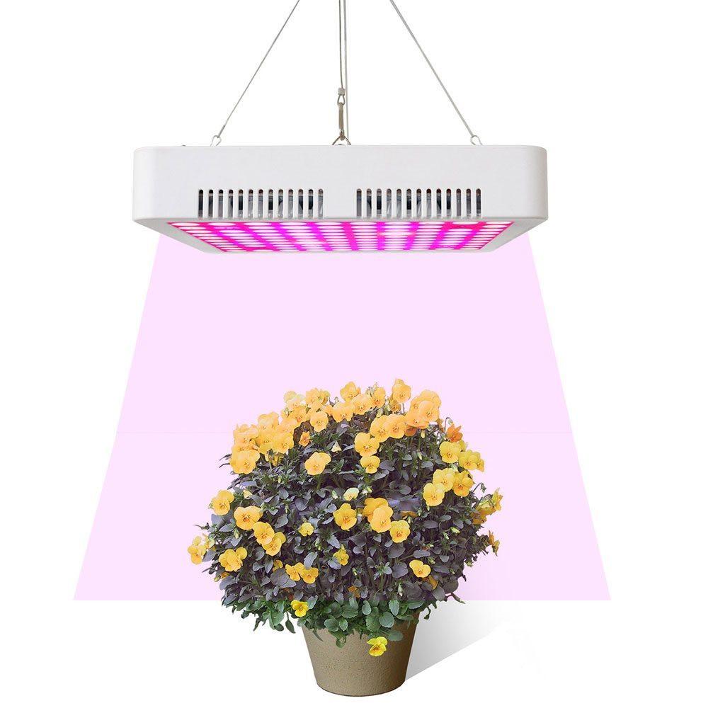 MENGS® PL-02 150W Vollspektrum LED Pflanzenlampe mi Kühlkörper und Lüfter Für Gewächshaus Zimmerpflanzen Gemüse und Blumen