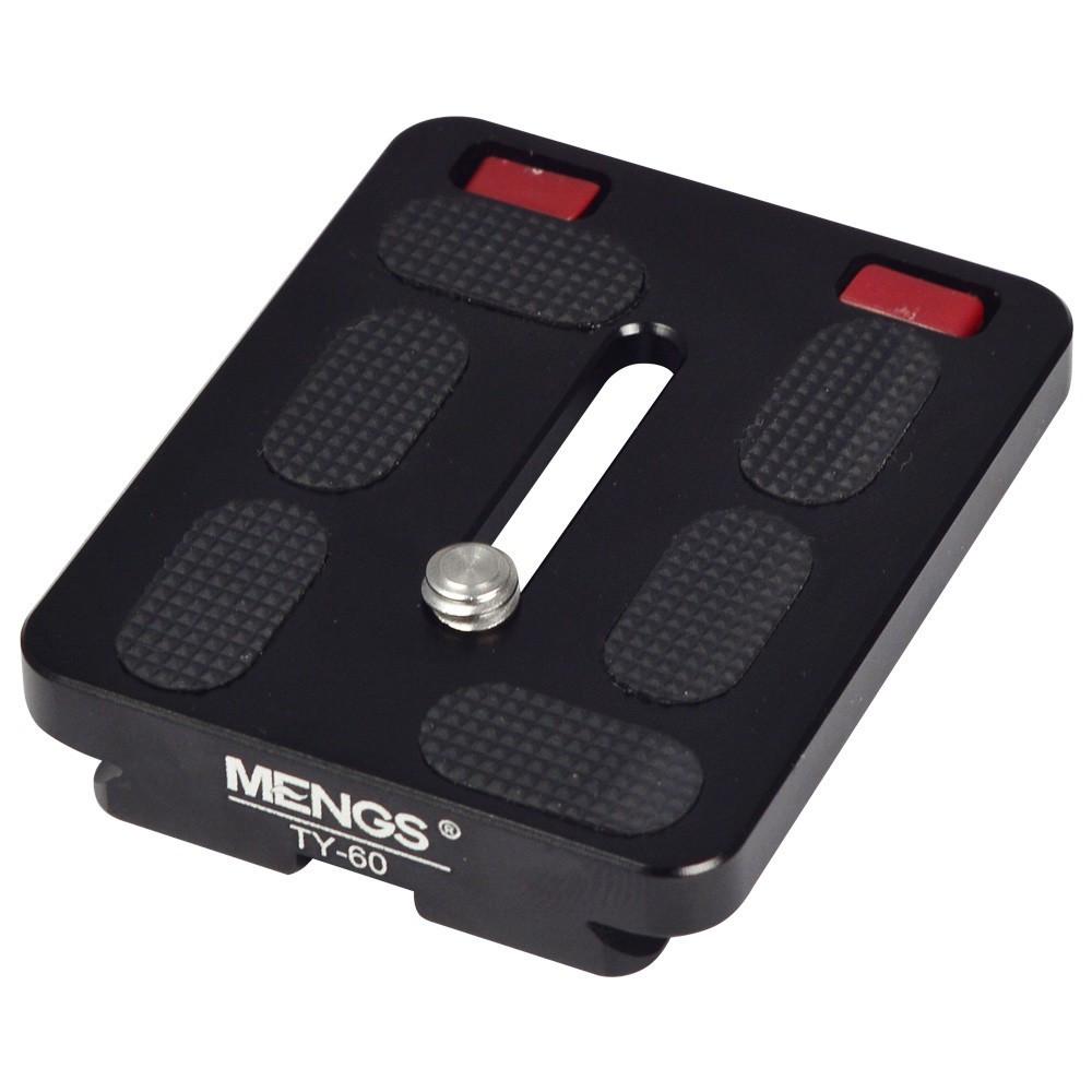 MENGS® TY-60 60mm Schnellwechselplatte mit Aluminium-Legierung Material Für DSLR-Kamera und Kompatibel mit Sirui G/K-x Serie Kugelkopf und Arca-Swiss Standard