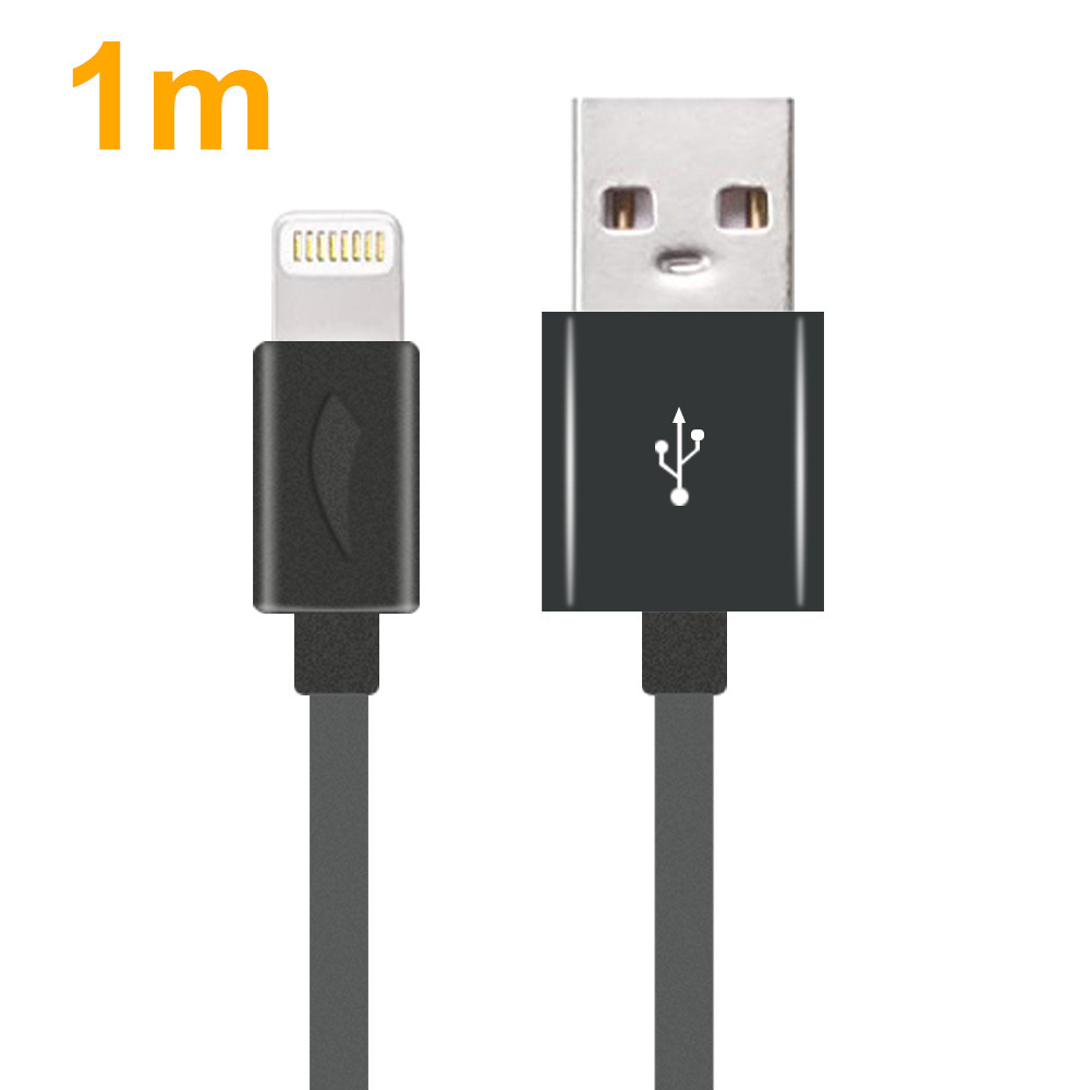 MENGS® 1M Phone USB Cable For IPhone 5/5c/5s/SE/6/6 Plus/6s/6s Plus/7/7 Plus/8/8 Plus/X - Gray