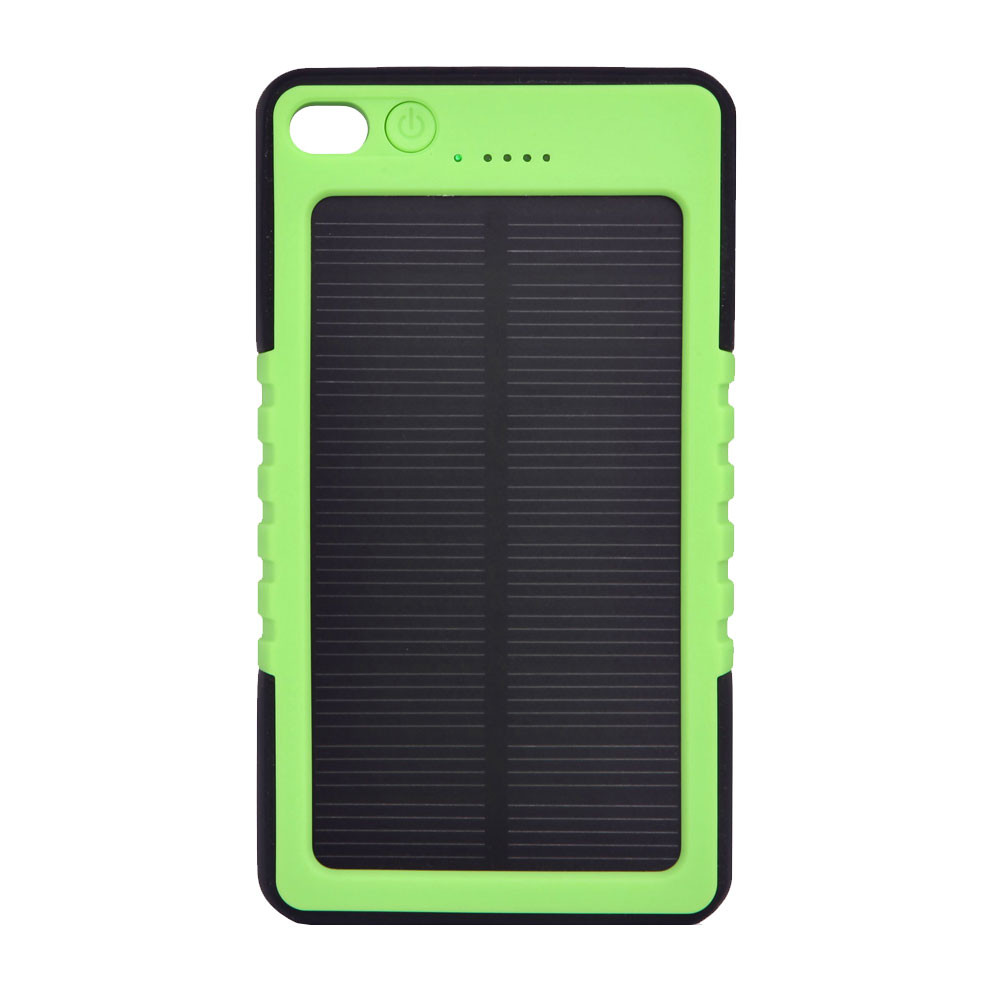 MENGS® ES800 USB Shockproof Non-Slip And Waterproof Plastic Solar Mobile Power DC 5V/1A With 3 LED Mode - Lighting / SOS Signal Light / Flashing - Green