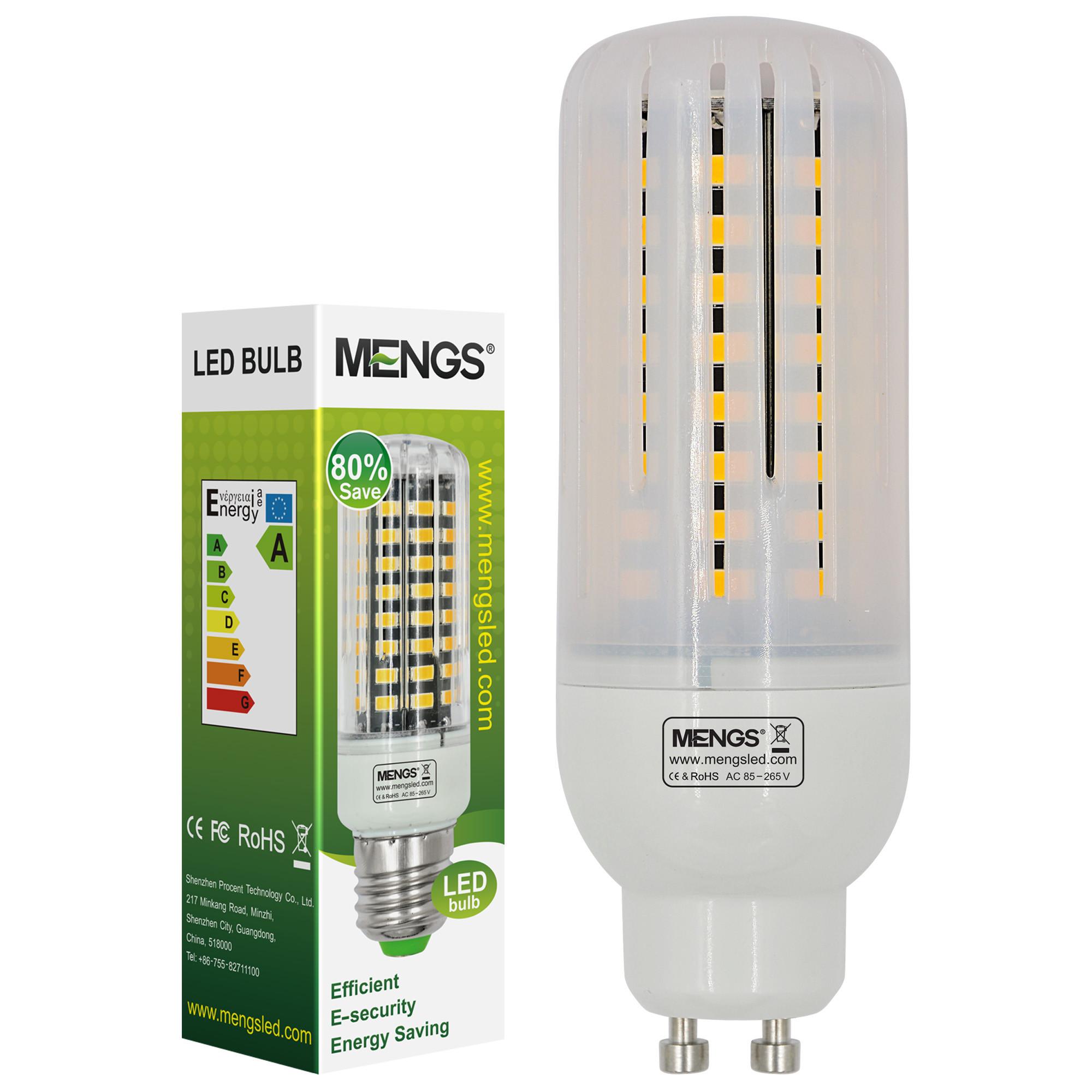 MENGS® Anti-Strobe GU10 9W LED Corn Light 72x 5736 SMD LB LED Bulb Lamp In Cool White Energy-Saving Lamp